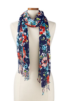 Women's Clear Coral Floral Scarf