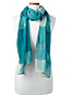 Women's Turquoise Plaid Scarf