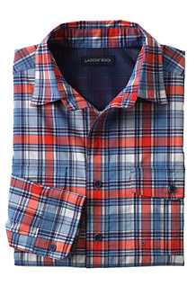 Men's Patterned UPF30 Travel Shirt