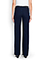 Women's Mid Rise Dark Denim Trouser Leg Jeans
