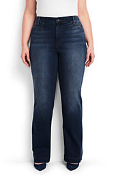 Women's Plus Size Mid Rise Denim Trouser
