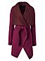 Le Manteau Cascade en Laine, Femme Stature Standard