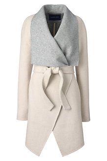 Women's Waterfall Wool Blend Coat