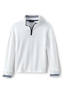 Boys' Half-zip Piqué Pullover