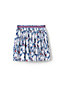 Little Girls' Pleated Star Print Jersey Skirt