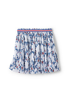 Girls' Pleated Star Print Jersey Skirt