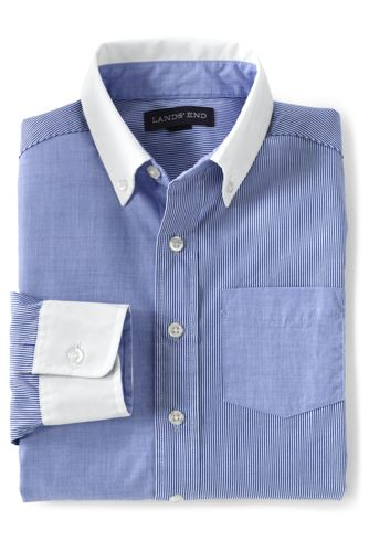 Boys' Smart Patterned Poplin Shirt