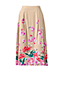 Women's Regular Stretch Woven Print Midi Skirt