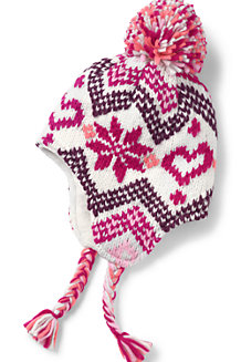 Girls' Fairisle Bobble Hat