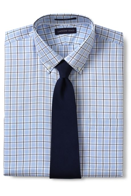 Men's Tailored Fit No Iron Royal Textured Dress Shirt