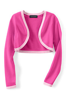 Girls' Supima® Cotton Fine Gauge Shrug