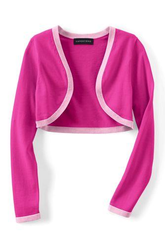 Girls' Supima® Cotton Fine Gauge Shrug