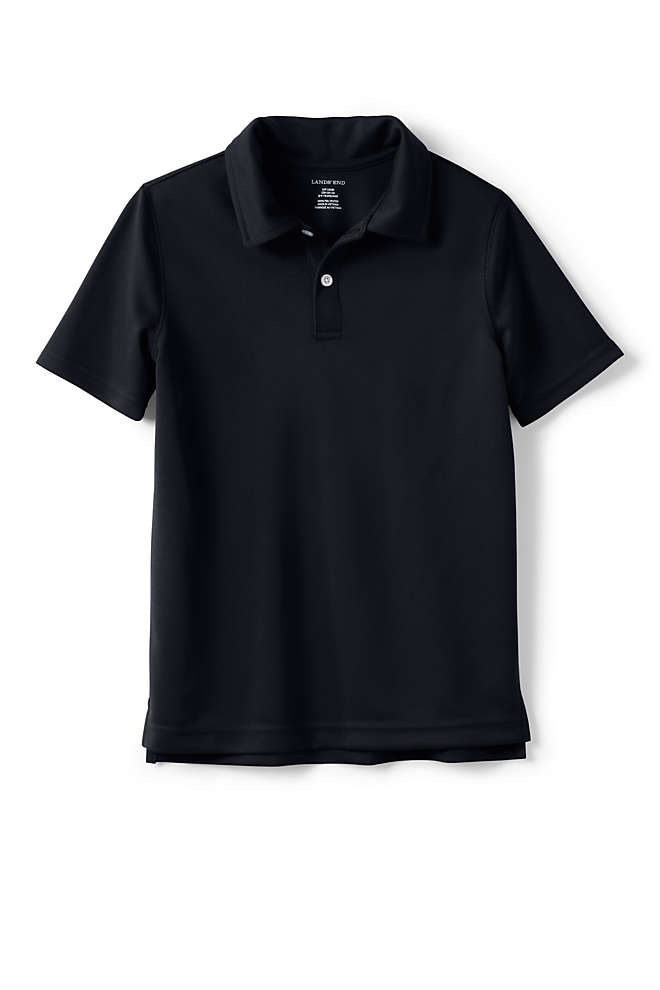 School Uniform Boys Short Sleeve Poly Pique Polo Shirt, Front