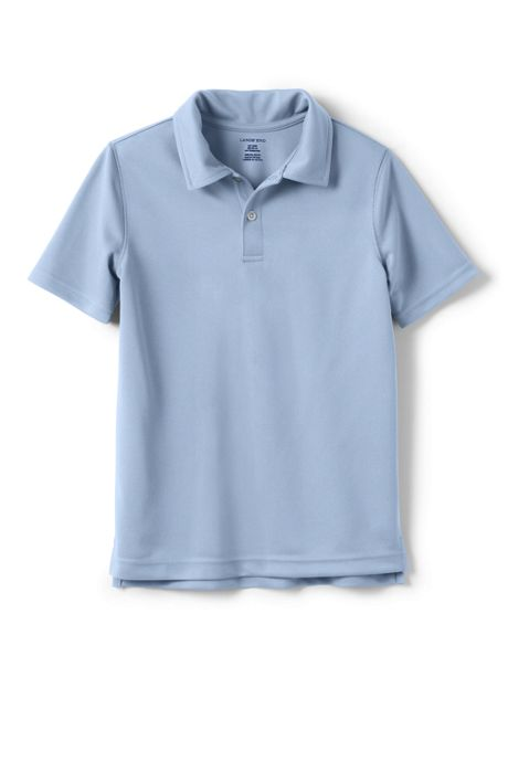 School Uniform Little Boys Short Sleeve Poly Pique Polo Shirt