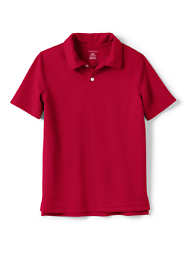 School Uniform Little Boys Short Sleeve Poly Pique Polo