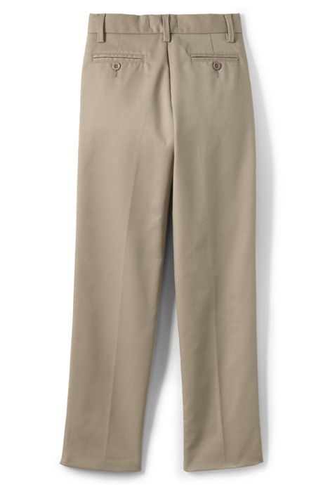 School Uniform Boys Lands' End Iron Knee Perfect Chino Pants