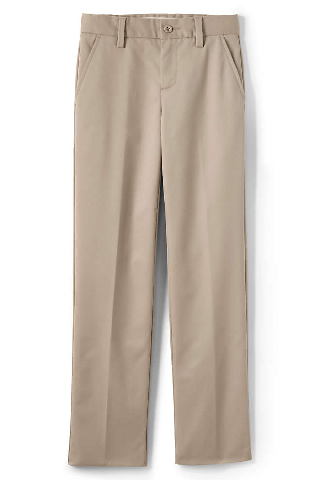 Boys Lands' End Iron Knee Perfect Chino Pants, Front