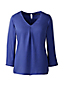 Women's Regular Soft Three-quarter Sleeve V-neck Tunic