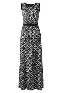 Women's Print Stretch Jersey Maxi Dress