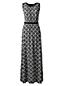 La Robe Maxi Longue en Jersey Stretch à Motifs Femme, Stature Standard