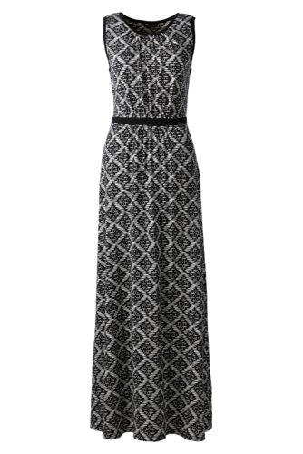 Women's Regular Print Stretch Jersey Maxi Dress