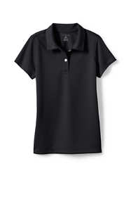 Girls Short Sleeve Poly Pique Polo Shirt