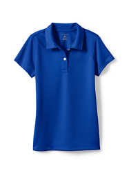 School Uniform Little Girls Short Sleeve Poly Pique Polo