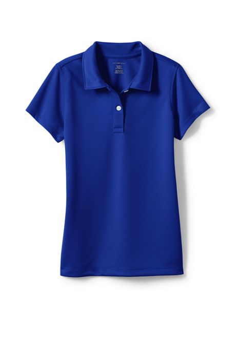 School Uniform Girls Short Sleeve Poly Pique Polo