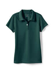 School Uniform Little Girls Short Sleeve Poly Pique Polo Shirt