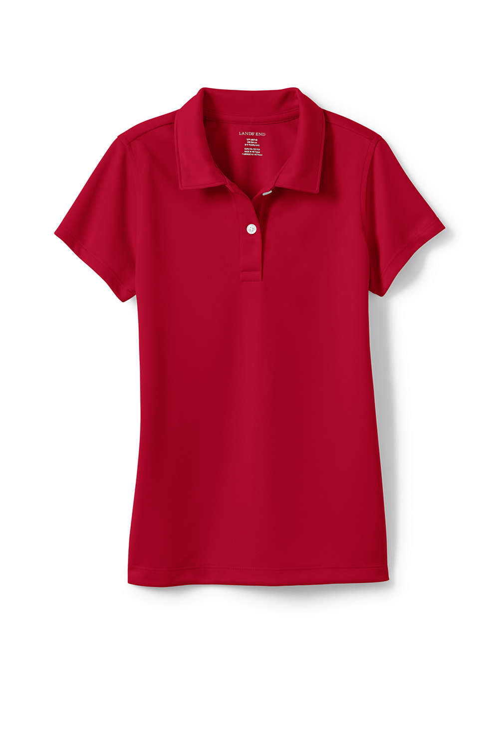 74a506d71 School Uniform Short Sleeve Poly Piqué Polo from Lands' End