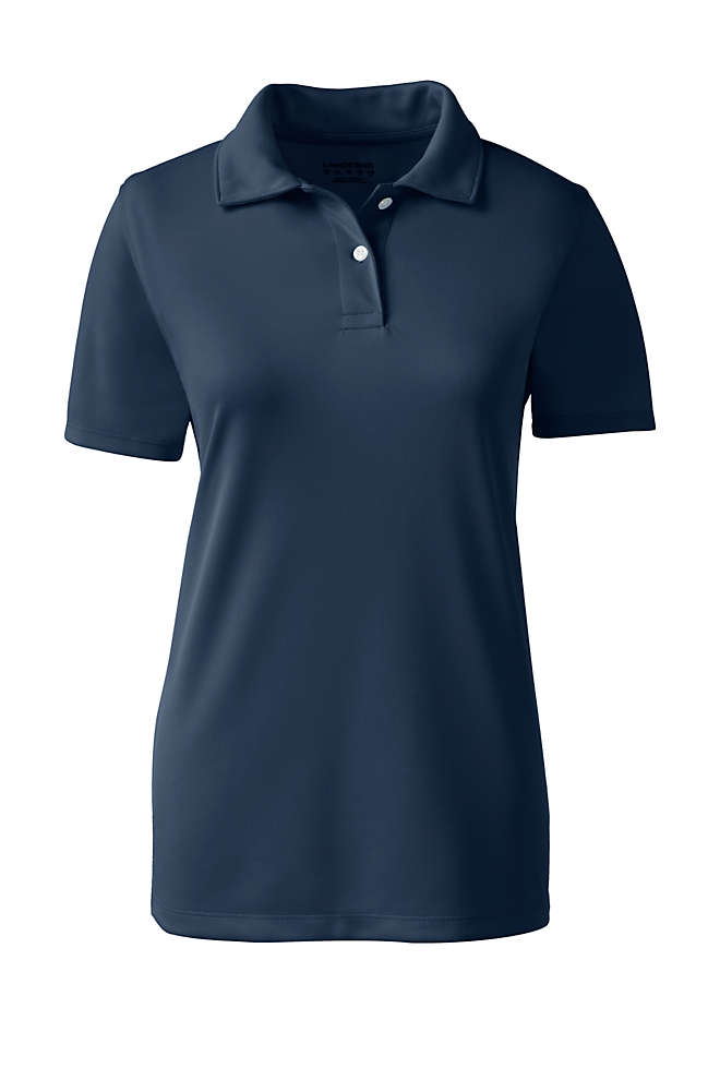 School Uniform Women's Short Sleeve Poly Pique Polo Shirt, Front