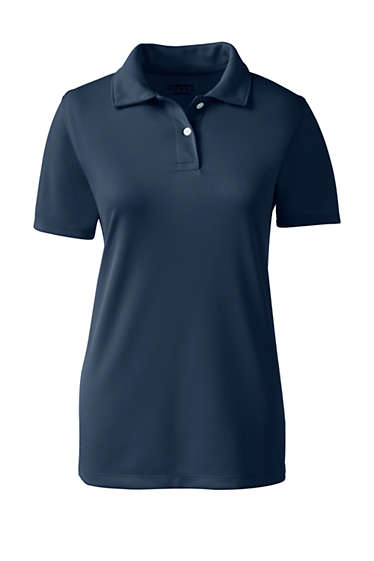 b1c5e2ab1 School Uniform Girls Short Sleeve Poly Pique Polo Shirt from Lands' End