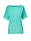 Women's Regular Embroidered Linen Tee