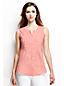 Women's Regular Pintuck Linen Sleeveless Shirt