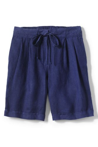 Women's Regular Linen Shorts