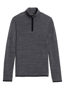 メンズ・CANVAS・ハーフジップ・セーター/長袖