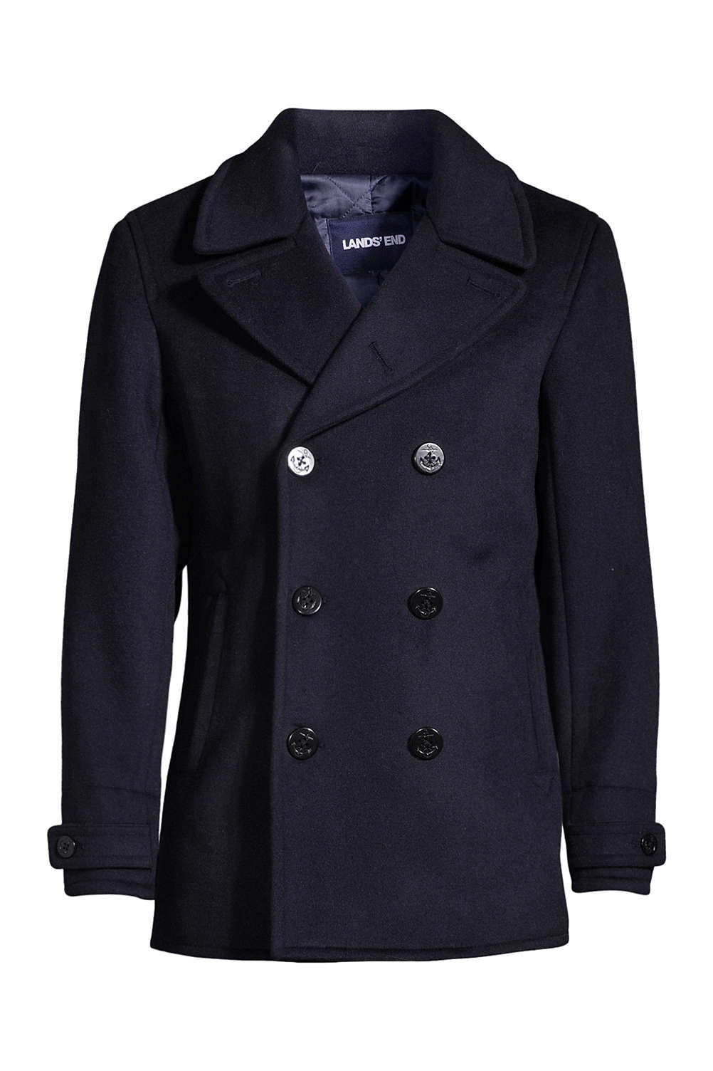 76f3865cc38 Men s Wool Peacoat from Lands  End