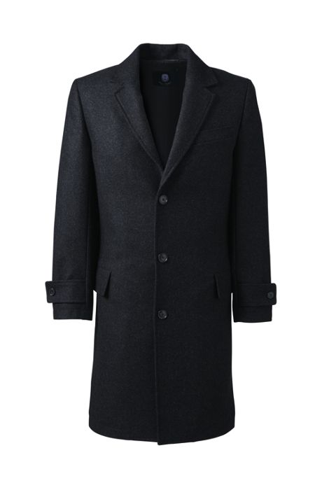 Men's Tall Wool Topcoat