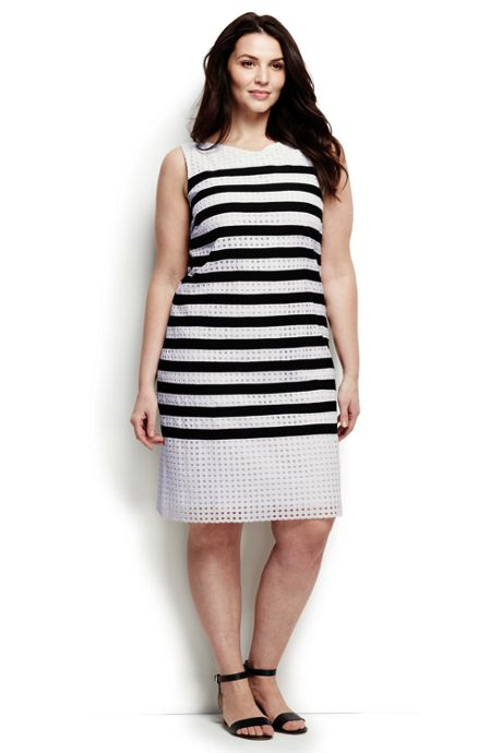 Women's Plus Size Sleeveless Shift Dress