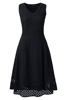Women's Broderie Anglaise V-neck Dress