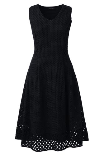 Women's Regular Broderie Anglaise V-neck Dress