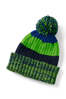 Boys' Stripe Rib Knit Hat