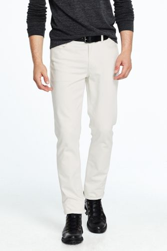 Men's White Slim Fit Jeans