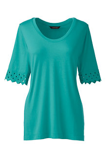 Women's Elbow Sleeve A-Line Top