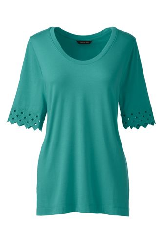 Women's Regular Elbow Sleeve A-Line Top