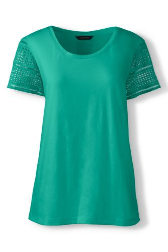 Women's Regular Lace Sleeve Tee