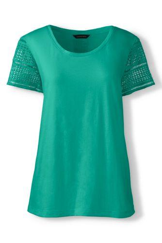 Supima-Shirt mit Spitze