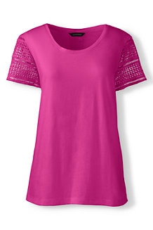 Women's Lace Sleeve Tee