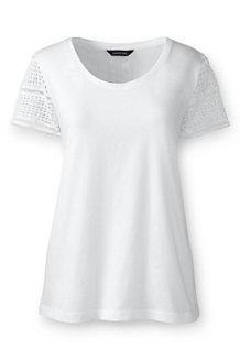 Women's Lace Sleeve Tee