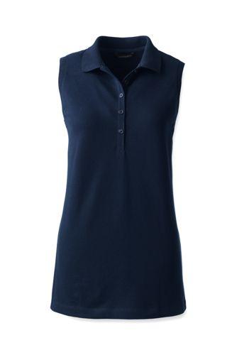 Ärmelloses Piqué-Poloshirt